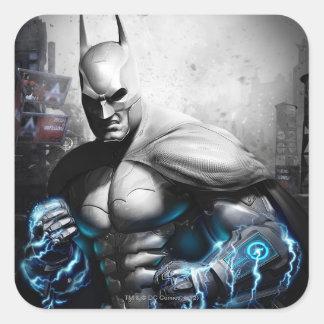 Batman - relámpago calcomanía cuadrada personalizada