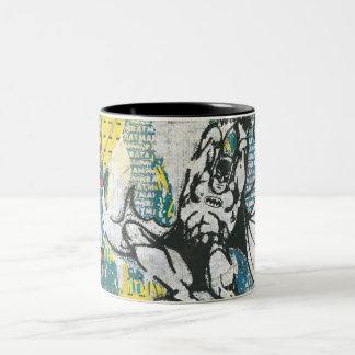 Batman - Rise Up Collage 2 Two-Tone Coffee Mug