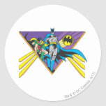 Batman & Robin 2 Classic Round Sticker