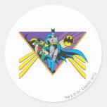 Batman & Robin 2 Round Stickers
