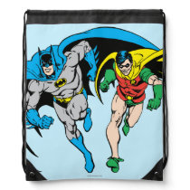 Batman & Robin Drawstring Bag