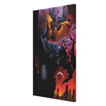 Batman & Robin Flight Over Gotham Canvas Print