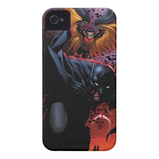 Batman & Robin Flight Over Gotham iPhone 4 Case-Mate Case