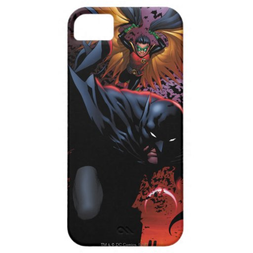 Batman & Robin Flight Over Gotham iPhone 5 Cover