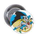 Batman & Robin Profile Pinback Buttons