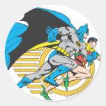 Batman & Robin Profile Round Sticker