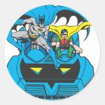 Batman & Robin Ride Batmobile Classic Round Sticker