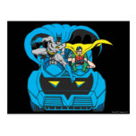 Batman & Robin Ride Batmobile Post Card