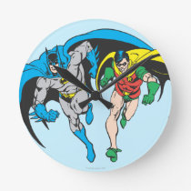 Batman & Robin Round Clock