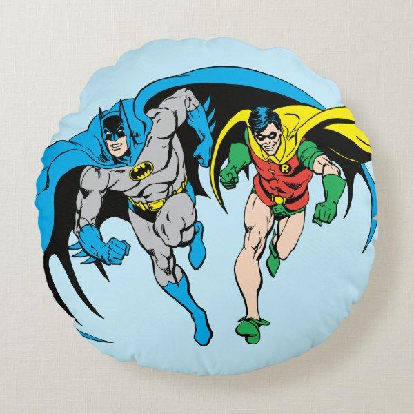 Batman & Robin Round Pillow