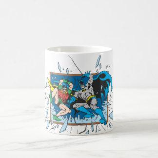 Batman & Robin Shatter Window Classic White Coffee Mug