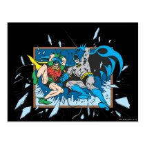 Batman & Robin Shatter Window Postcard