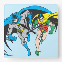 Batman & Robin Square Wall Clock