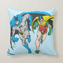 Batman & Robin Throw Pillow
