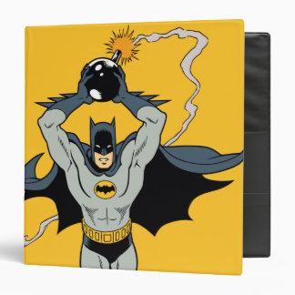 Batman Running With Bomb 3 Ring Binder