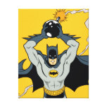 Batman Running With Bomb Canvas Print
