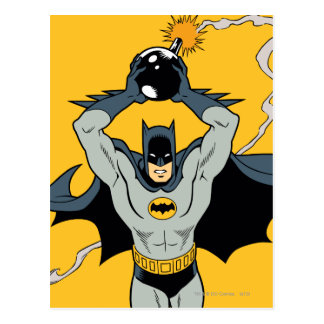 Batman Running With Bomb Postcard