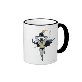 Batman Running With Bomb Ringer Coffee Mug