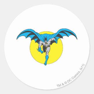 Batman Runs Forward Classic Round Sticker