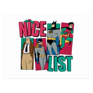 Batman | Santa Nice List of Heroes Postcard