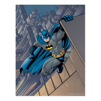Batman Scenes - Hanging From Ledge Postcard