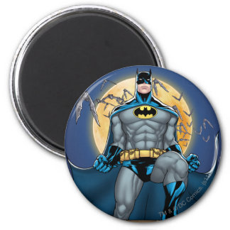 Batman Scenes - Moon Front View 2 Inch Round Magnet
