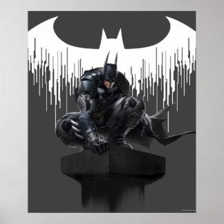 Batman se encaramó en un pilar póster