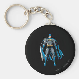 Batman se levanta llavero redondo tipo pin