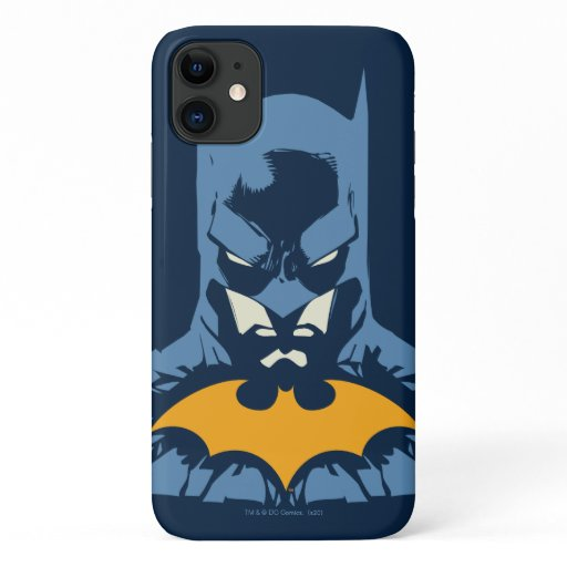 Batman Shattered Bust With Gold Logo iPhone 11 Case