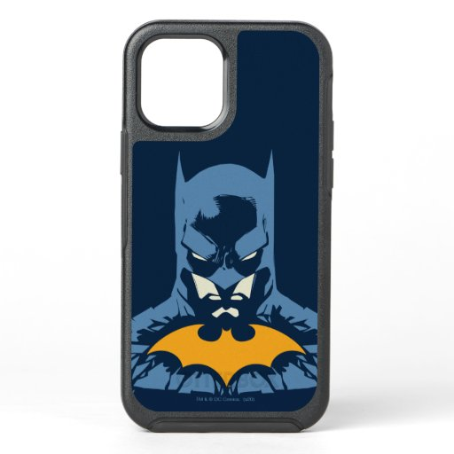 Batman Shattered Bust With Gold Logo OtterBox Symmetry iPhone 12 Case