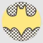 Batman Showtime Symbol Round Stickers