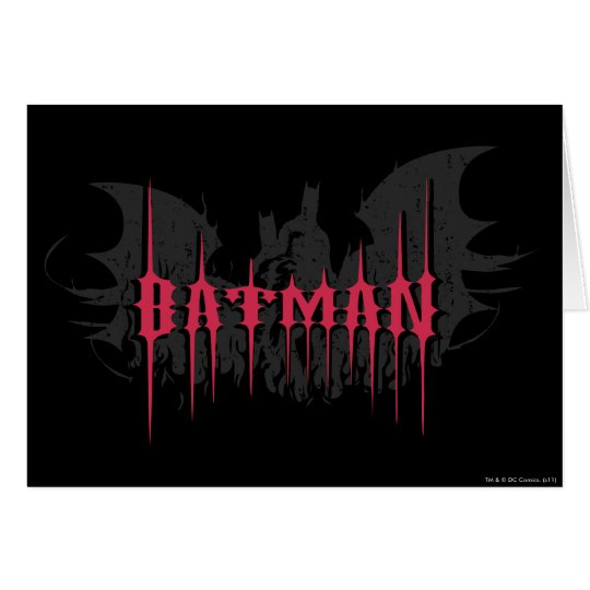 Batman | Silhouette Logo Card