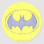 Batman Sketchbook 1 Classic Round Sticker