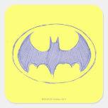 Batman Sketchbook 1 Square Stickers