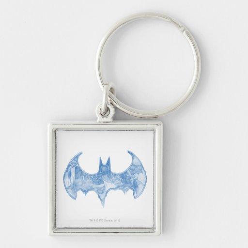 Batman Sketchbook 2 Silver-Colored Square Keychain