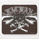 Batman Skull Cowl Batwings Logo Mouse Pad