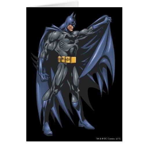 Batman sostiene el cabo - lado felicitaciones
