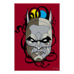 Batman Stained Glass Pen & Ink Posters
