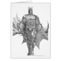 Batman Standing Drawing Card