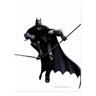 Batman Stepping On Line Postcard
