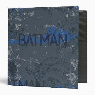 Batman Street Heroes - 3 - Blue/Grey Pattern 3 Ring Binder