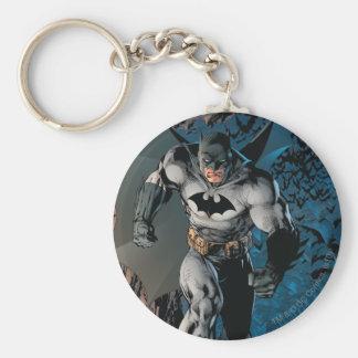 Batman Stride Basic Round Button Keychain
