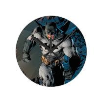 Batman Stride Round Clock