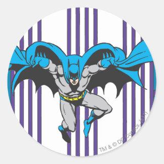 Batman Stripes Classic Round Sticker