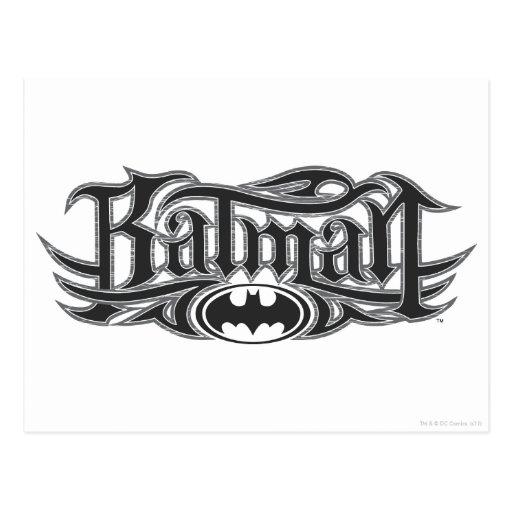 Batman Stylized el logotipo Tarjeta Postal