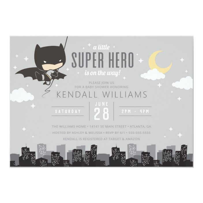 Batman Super Hero Baby Shower