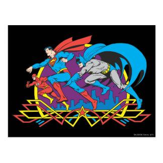 Batman + Superhombre + Flash Postales