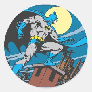 Batman Surveys City Classic Round Sticker