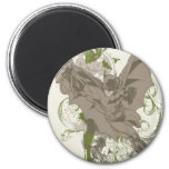 Batman Swinging Collage with Skull 2 Inch Round Magnet