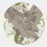 Batman Swinging Collage with Skull Sticker